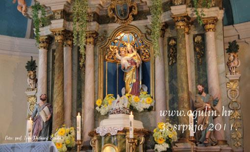 Oltar u Crkvi Bl. Dj. Marije Utješiteljice