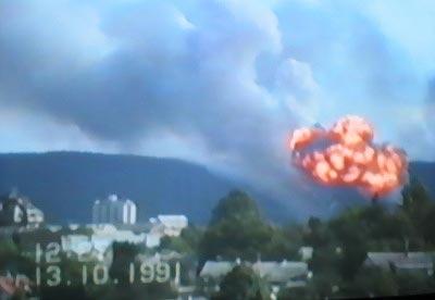 Eksplozija skladista u Ostarijama