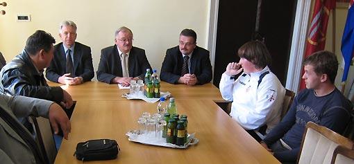 Brozinić, Orlić i Matijašić na prijemu kod gradonačelnika
