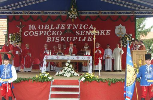 10. obljetnice Gospićko-senjske biskupije