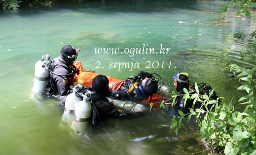 Vježba spašavanja unesrećenog u spiljama pod vodom