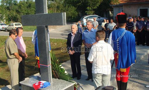 Blagoslovljen križ na mjestu herojske obrane Kamenice i Tounjskog kraja