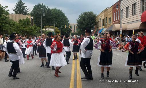 """KUD """"Klek"""" na međunarodnim festivalima folklora u SAD-u"""
