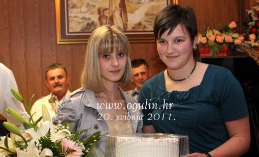Cvijeće i torta za vrlo uspješnu mladu kuglačicu Mateu Gašparović