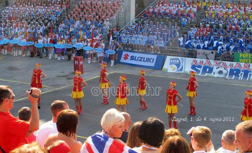 Ogulinske mažoretkinje sudjelovale su na otvorenju Europskog prvenstva mažoretkinja