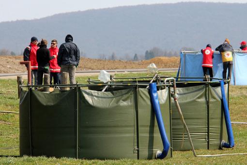 Na jezeru Sabljaci održan je završni međunarodni trening  s pročistačima vode