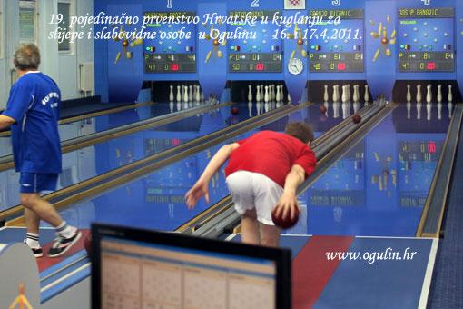 19. pojedinačno prvenstvo Hrvatske u kuglanju za slijepe i slabovidne osobe  u Ogulinu