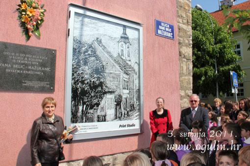 """Svečano otvorena vitrina sa slikom Viktora Ružića """"Rodna kuća Ivane Brlić Mažuranić"""""""