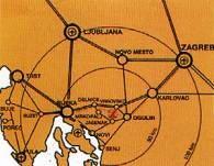 Ogulin na pola puta izmedu Zagreba i Rijeke