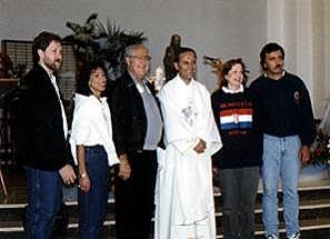 Predsjednik HBZ, gosp. Bernard M. Luketich u Međugorju, rujan 1996. godine