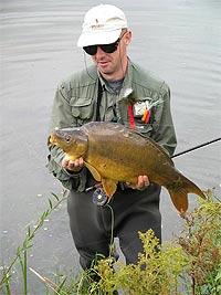 Šaran ulovnjen na jezeru Sabljaci